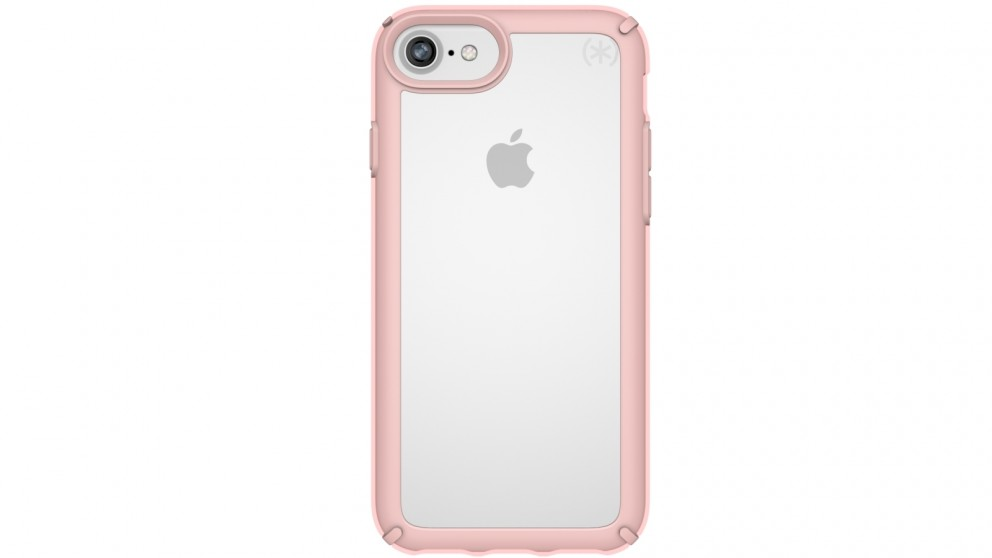 Speck Presedio Show Case for iPhone 8 - Clear/Rose Gold