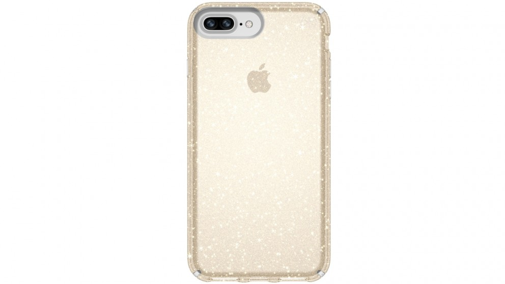 Speck Presidio Clear + Glitter Case for iPhone 8 Plus - Gold