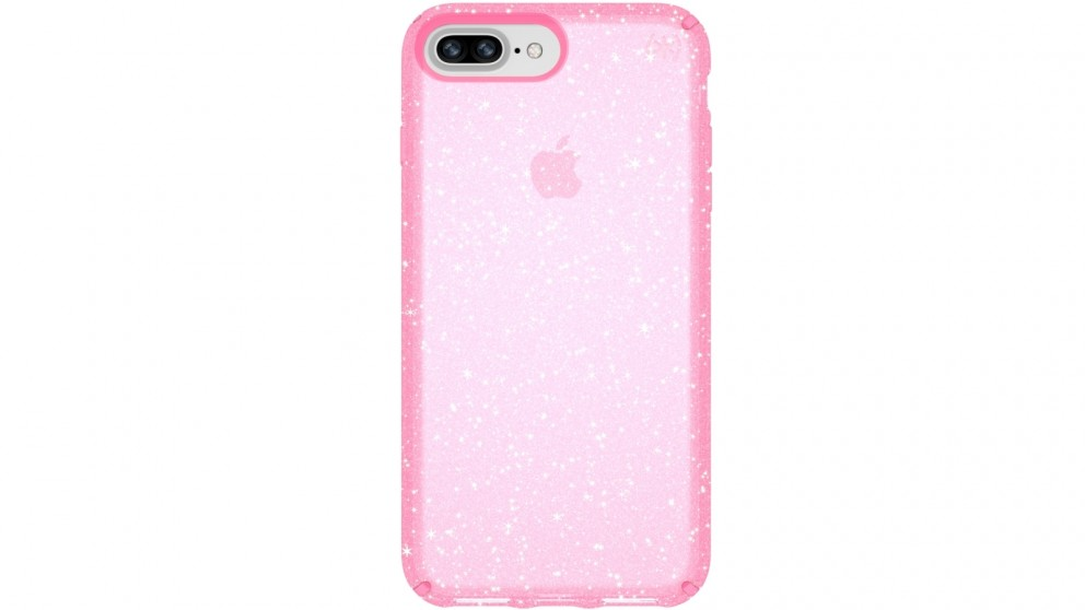 Speck Presidio Clear + Glitter Case for iPhone 8 Plus - Pink