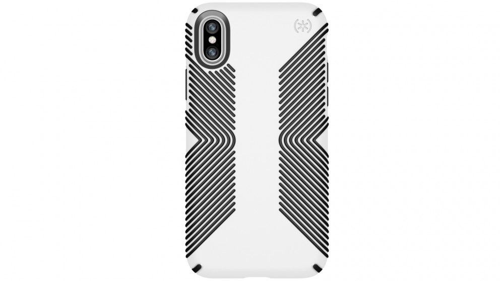 Speck Presidio Grip Case for iPhone X - White/Black