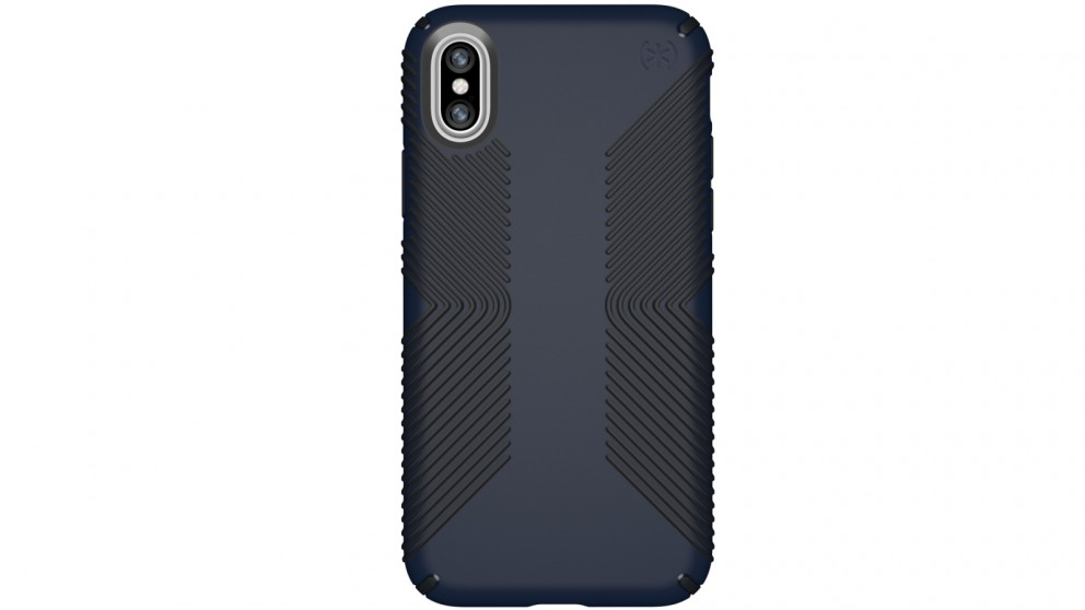Speck Presidio Grip Case for iPhone X - Eclipse Blue/Carbon Black