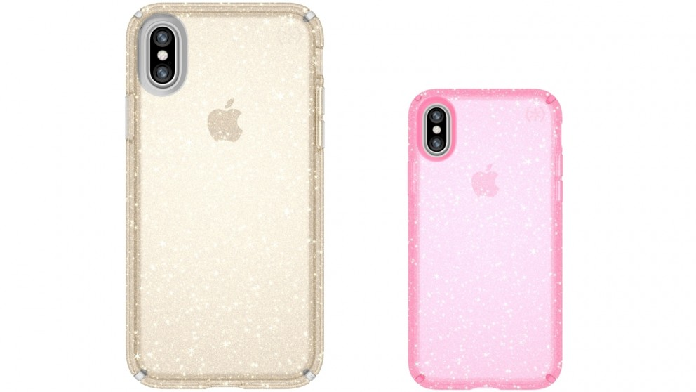 on sale 3aa69 abbad Buy Speck Presidio Clear + Glitter Case for iPhone X | Harvey Norman AU