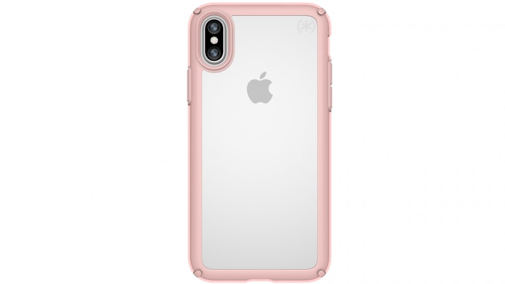 Speck Presidio Show Case for iPhone X - Clear/Rose Gold