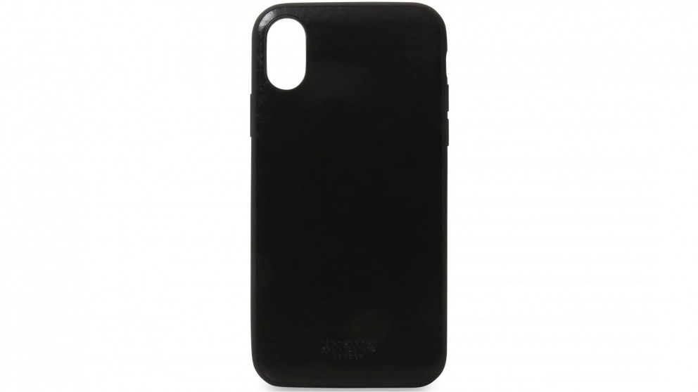 Knomo iPhone X Leather Snap-On Case - Black