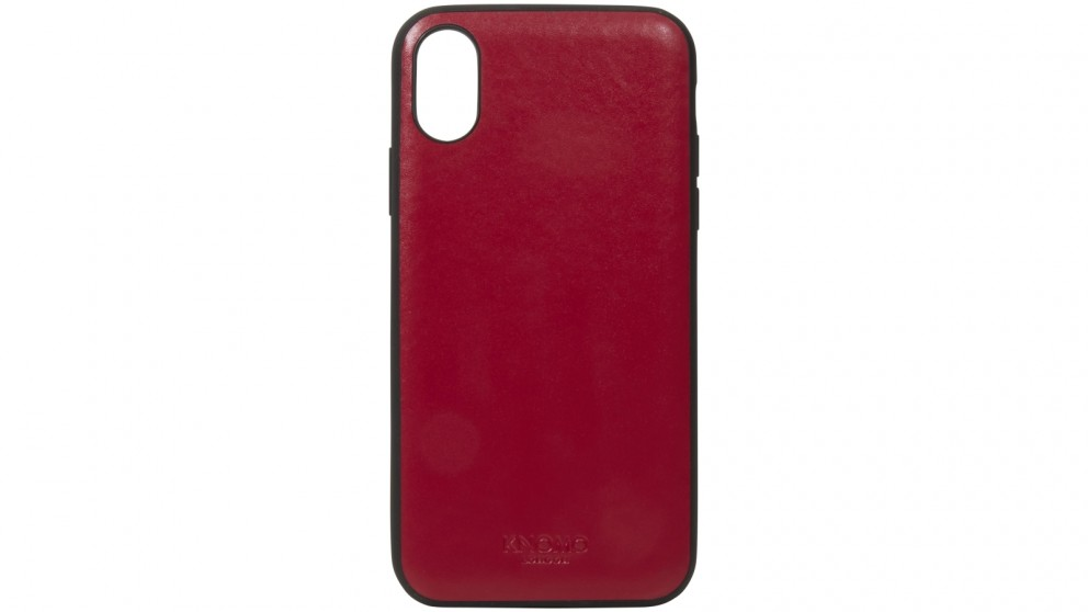 Knomo iPhone X Leather Snap-On Case - Chili
