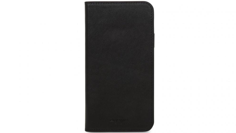 Knomo iPhone X Leather Folio Case - Black