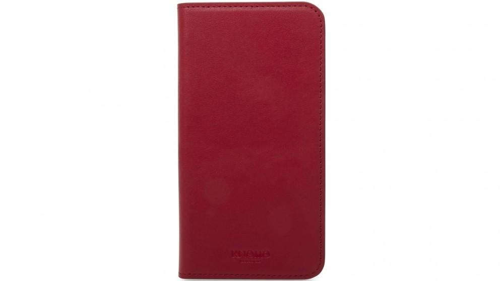 Knomo iPhone X Leather Folio Case - Chili