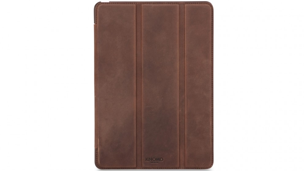 Knomo iPad Pro 9.7 Leather Tri Folio Case - Brown