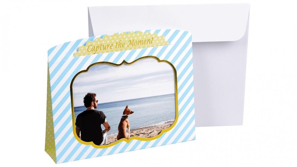 "Instax 6"" x 4"" Photo Frame Card - Blue & Yellow"