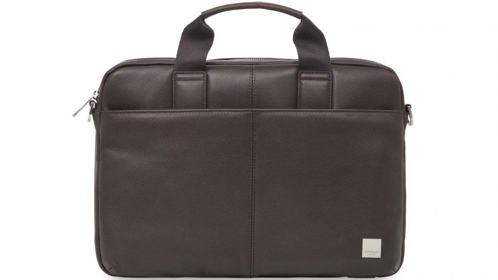 "Knomo Brompton Classic Stanford 13"" Slim Leather Briefcase"