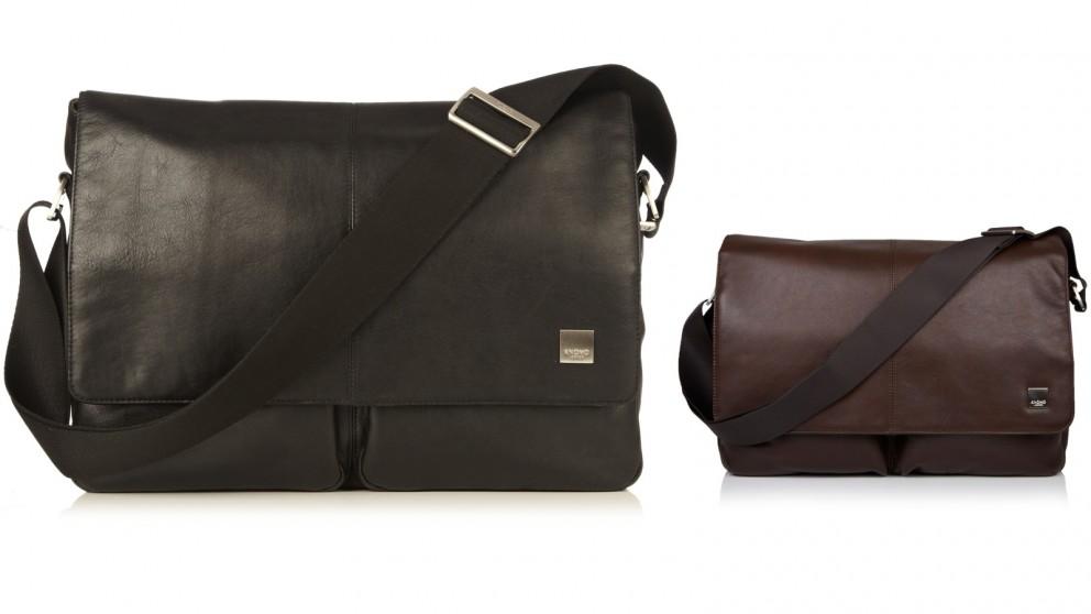 "Knomo Brompton Classic Kobe 15"" Soft Leather Messenger Bag"