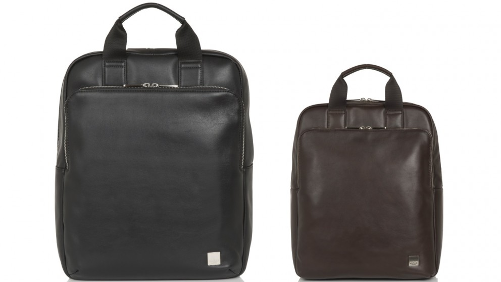 """Knomo Brompton Classic Dale 15"""" Leather Tote-Backpack"""