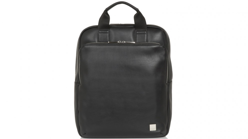 "Knomo Brompton Classic Dale 15"" Leather Tote-Backpack - Black"