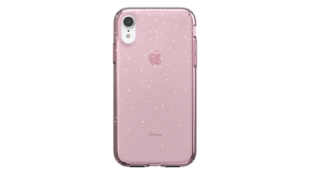watch 0c774 70994 Speck Presidio Clear and Glitter Case for iPhone XR - Clear/Pink