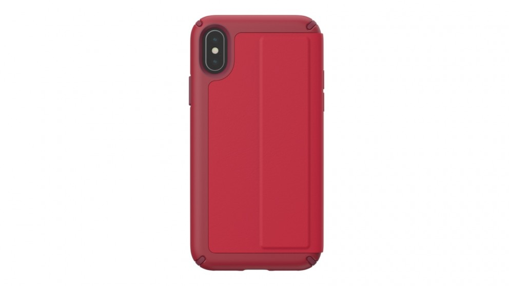 huge selection of 2691d 3a100 Speck Presidio Folio Leather Case for iPhone XS - Red