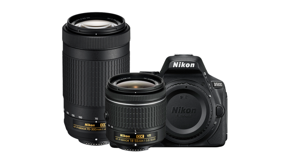 Hot Deals: Nikon D5600 DSLR Camera with 18-55mm and 70-300mm