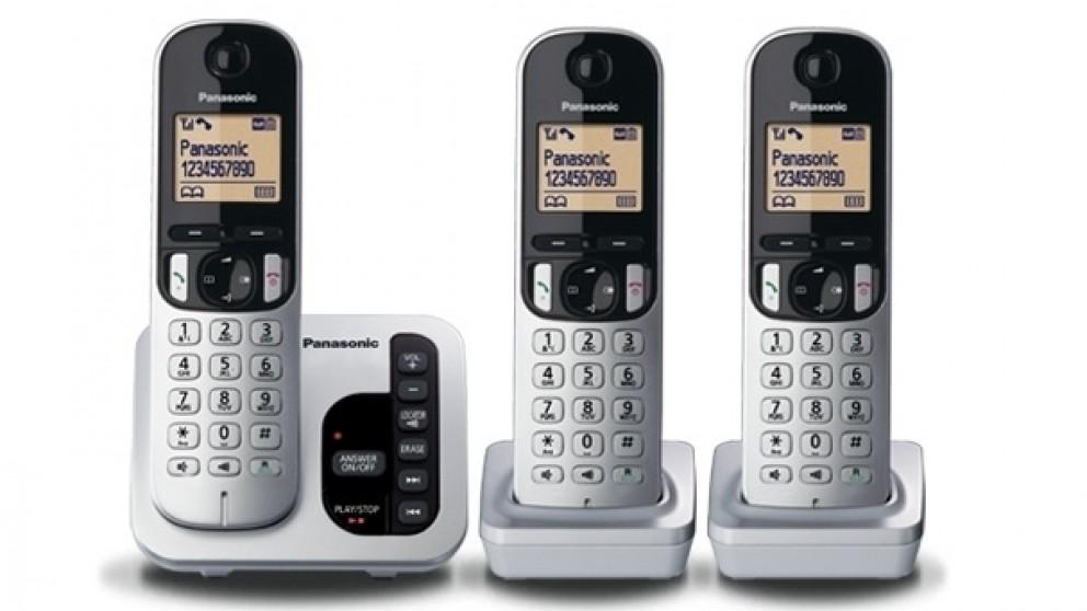 Panasonic KX-TGC223ALS Triple Handset Cordless Phone