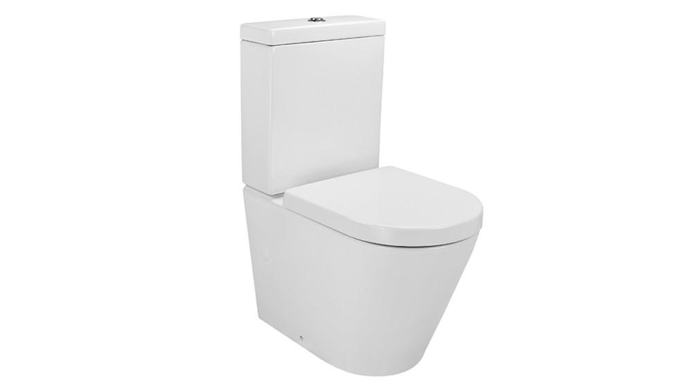 Verotti Felino Zero Back to Wall Toilet Suite with Soft Close Seat - White
