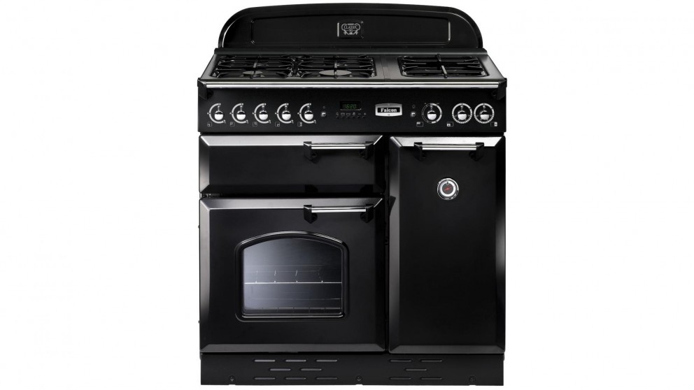 Falcon Classic 900mm Dual Fuel Freestanding Cooker - Black Chrome