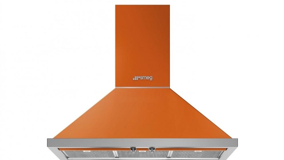 Smeg 900mm Portofino Wallmount Rangehood - Orange