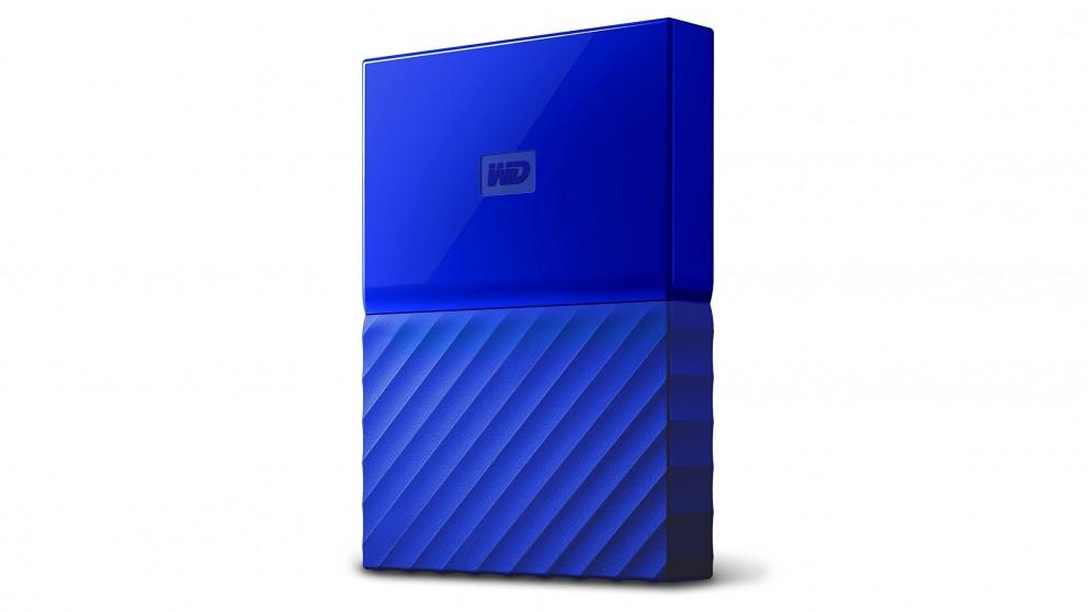 WD My Passport 2TB Portable Hard Drive - Blue