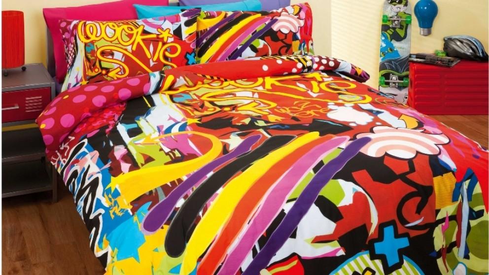 Urban Art Quilt Cover Set - Double