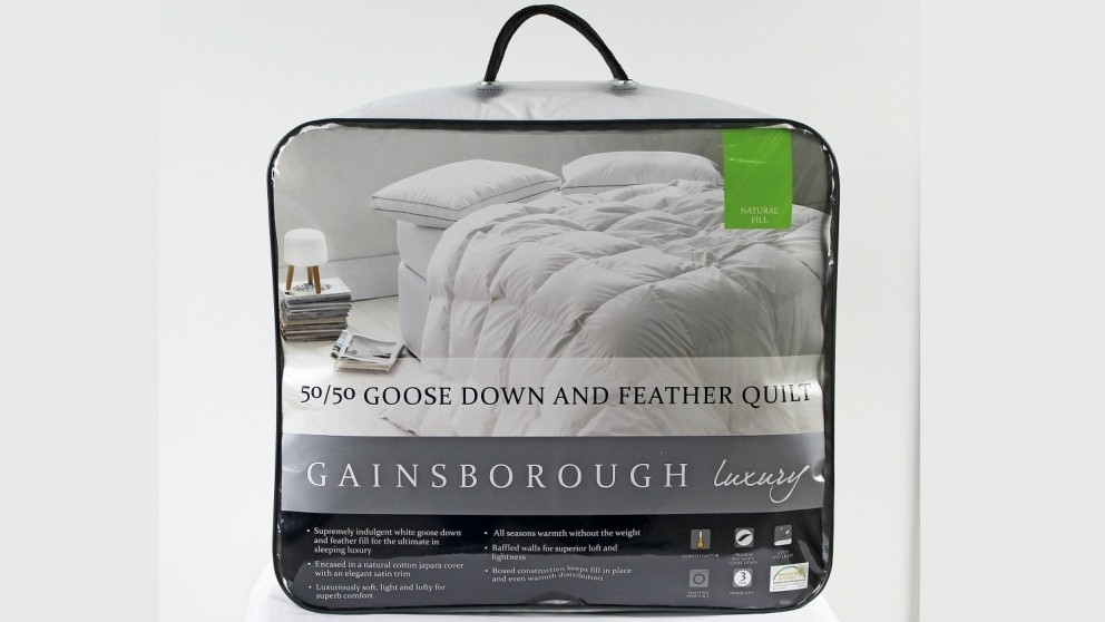 Gainsborough All Seasons 50/50 Goose Down and Feather King Quilt