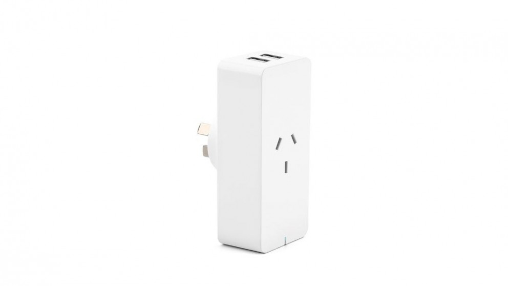 Connect Smart WiFi Plug with Dual USB Charging Port & Power Monitor