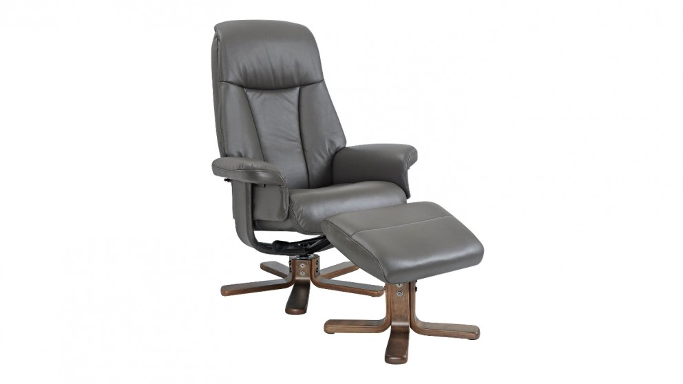 Buy Sola Leather Swivel Recliner And Footstool Harvey