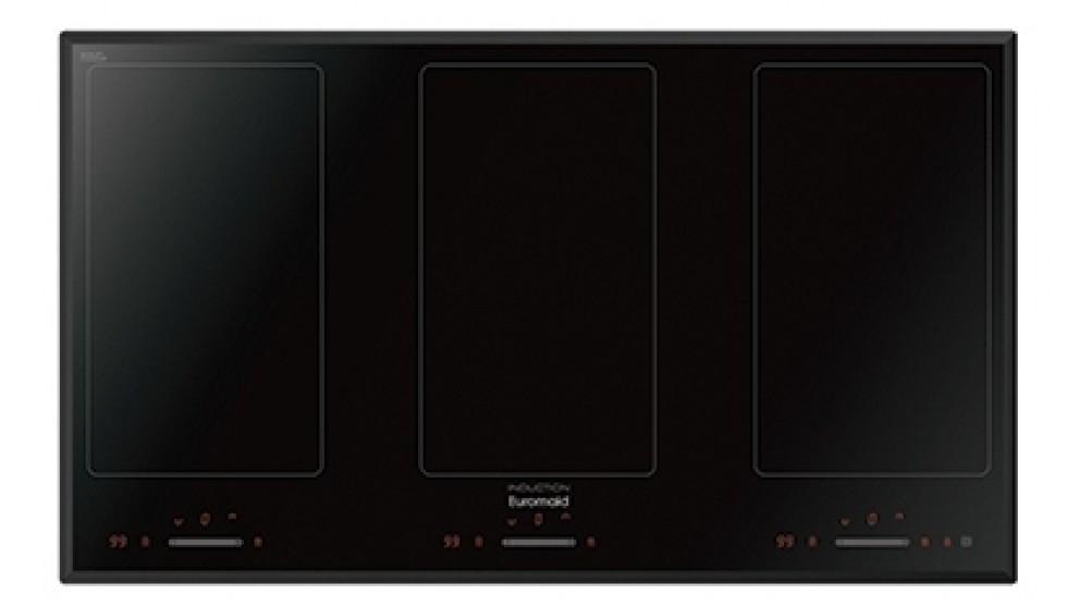Euromaid 900mm 3 Burner Flexizone Induction Cooktop