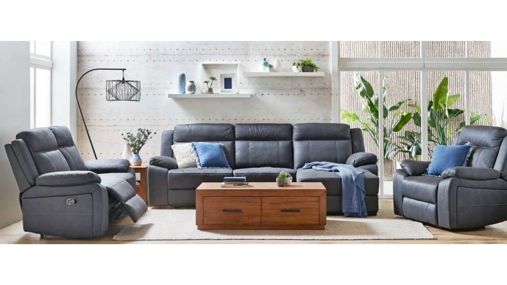 Vienna 3-Seater Fabric Recliner Sofa with Chaise