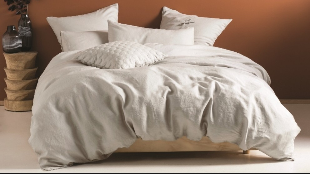 Nimes Pale Grey Quilt Cover Set