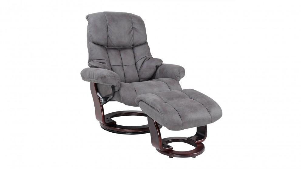 buy rhone fabric recliner footstool harvey norman au