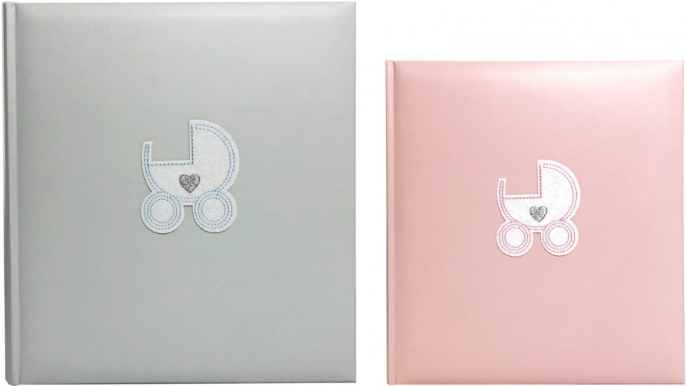 Platinum Baby Pram 280x305mm Photo Album with 70 Drymount Pages