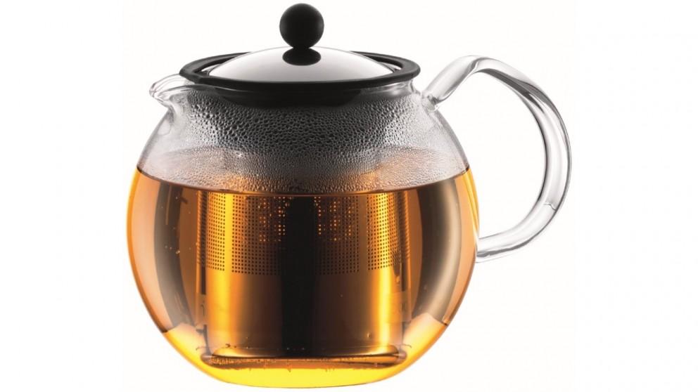 Bodum 1L Assam Tea Press with Stainless Steel Filter - Chrome