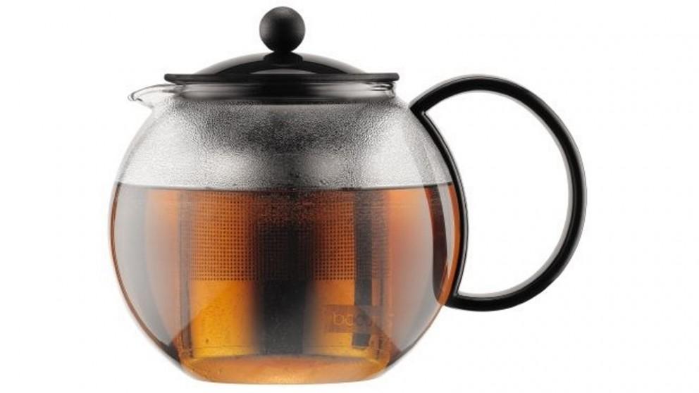 Bodum 1L Assam Tea Press with Stainless Steel Filter - Black