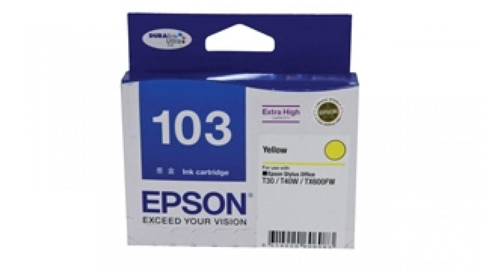 Epson 103 Extra High Capacity DURABrite Ultra Ink Cartridge - Yellow