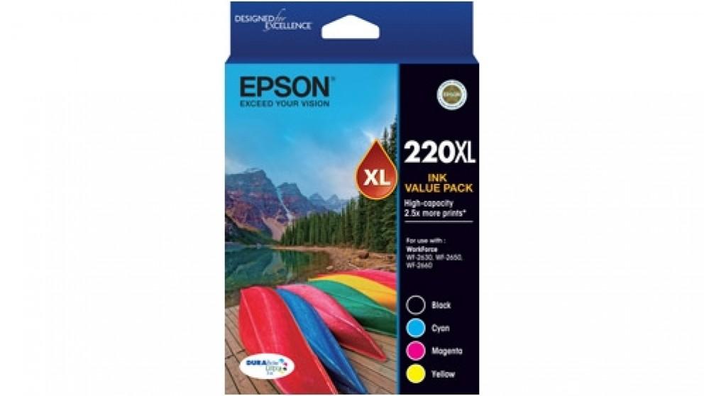 Epson 220XL DURABrite Ultra High Capacity Ink Cartridge Value Pack