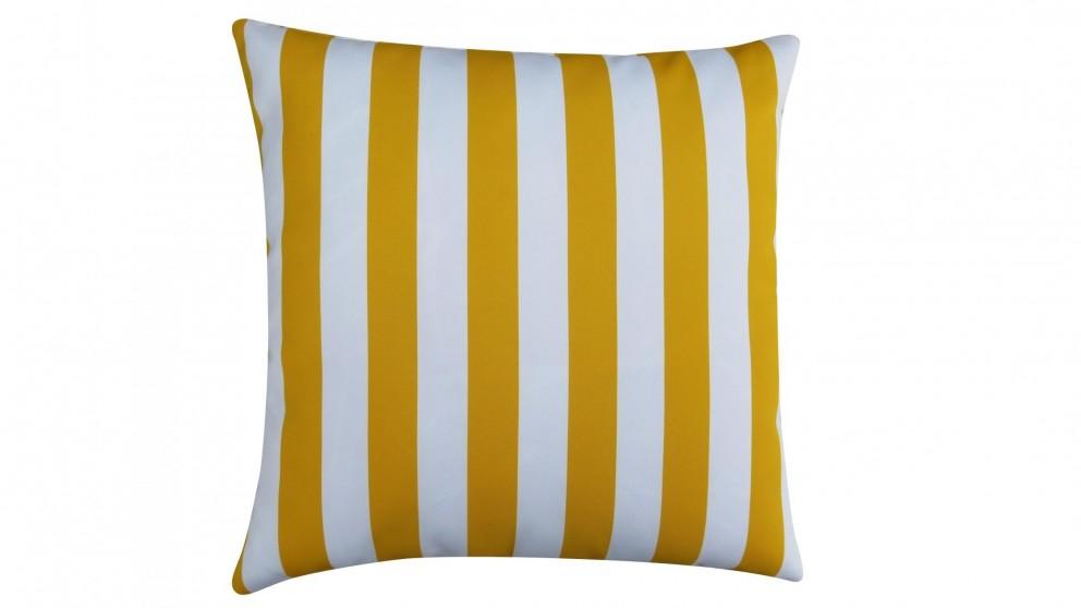 Hali Outdoor Scatter Striped Lemon Cushion