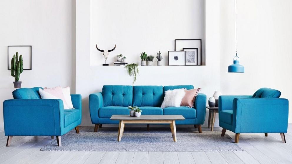 Jolie 3-Piece Fabric Lounge Suite