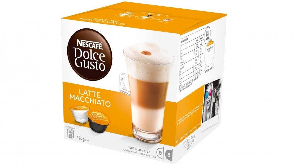 Buy Nescafe Dolce Gusto Latte Macchiato Coffee Capsules | Harvey Norman AU