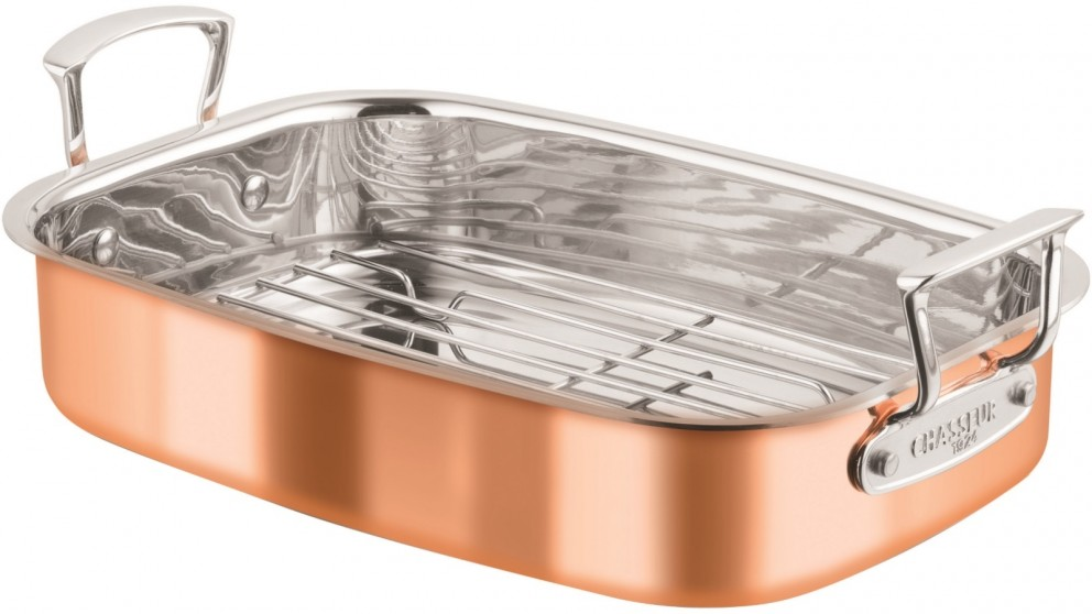 Chasseur Escoffier Roasting Pan with Rack 35cm