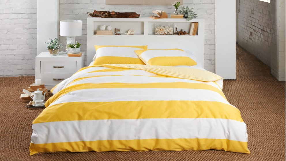 Norfolk Stripe Yellow Quilt Cover Set