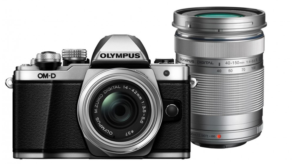 Olympus OM-D E-M10 MKII Mirrorless Camera with 14-42mm + 40-150mm Lens Kit