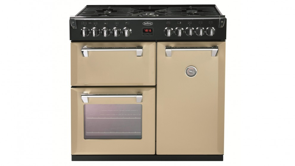 cream kitchen appliances belling 90cm richmond dual fuel range cooker cream