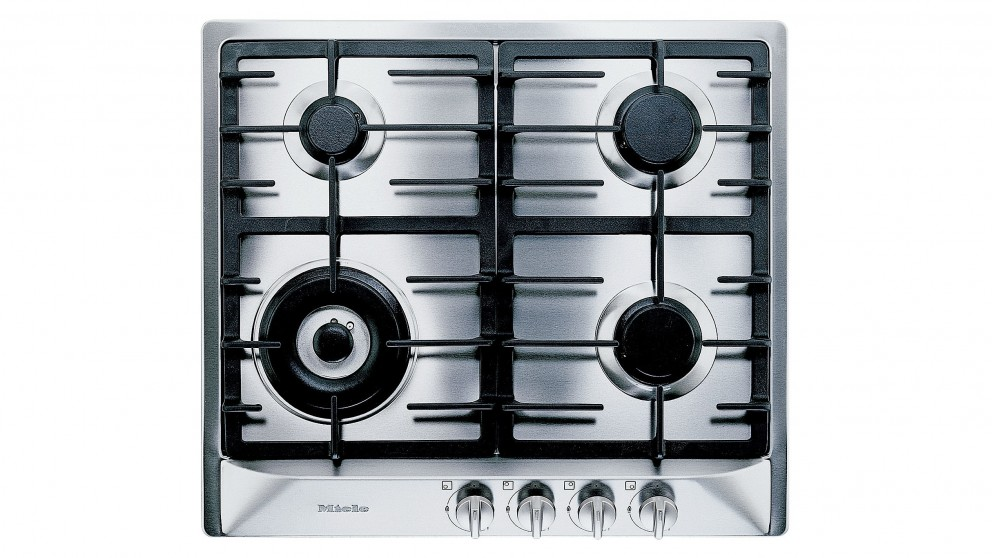 Miele 600mm 4 Burner Natural Gas Cooktop - Stainless Steel