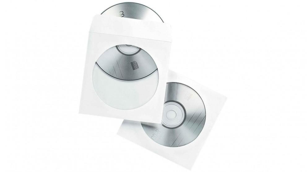 Fellowes White Paper CD/DVD 100 Pack Envelopes