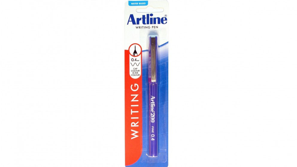 Artline 200 Fineline Pen 0.4mm - Blue
