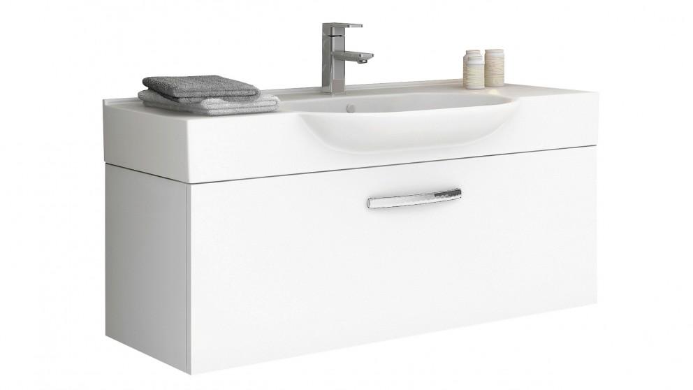 Vanity Bathroom Harvey Norman timberline dallas 1050mm wall-hung vanity - bathroom vanities