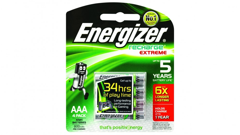 Energizer Recharge AAA Batteries - 4 Pack